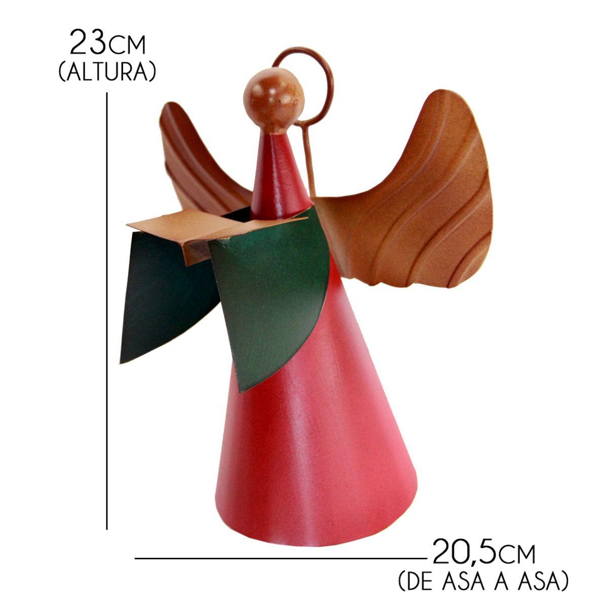 Anjo Decoração de Natal Artesanal de Ferro Rustico Enfeite de Mesa