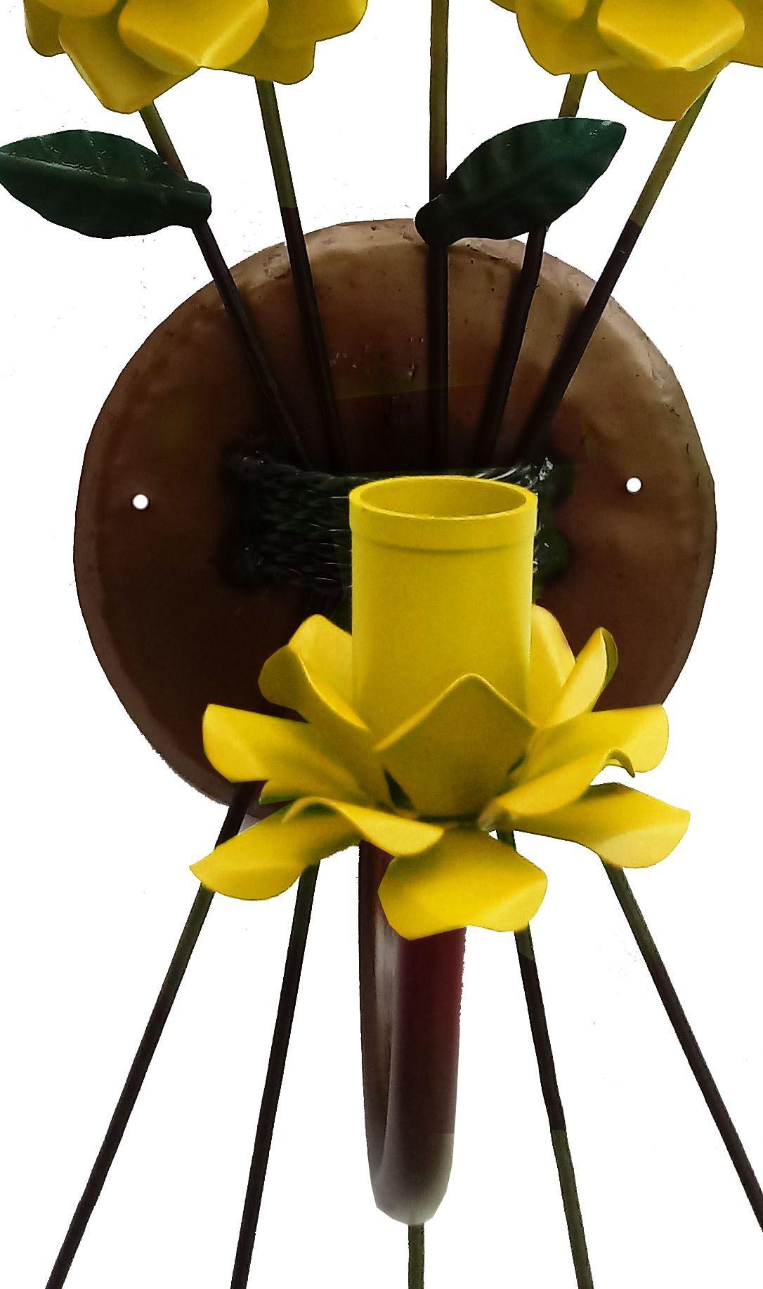 Arandela com Flores De Ferro Rústica Grande para Sala e Quarto de Parede