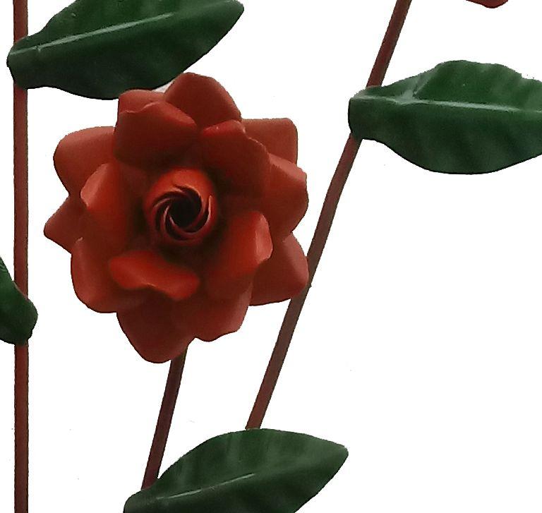 Arandela Floral Artesanal de Ferro Simples Barato Rustica para Lavabo