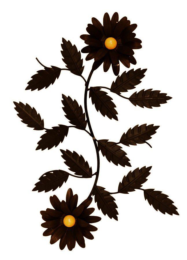 Moldura Arabesco De Parede Decorativo Galho De Flores Ferro