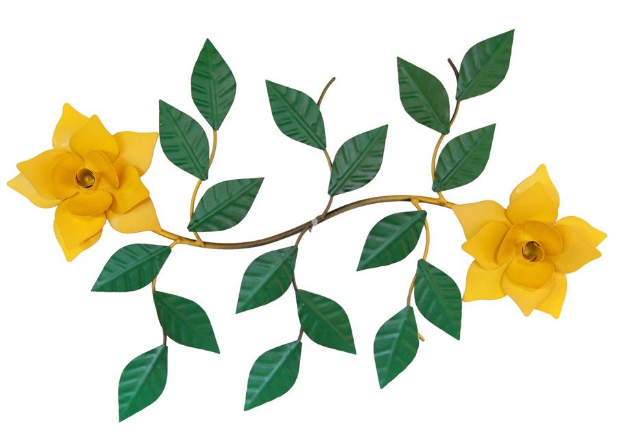 Painel Enfeite De Parede Lindo Com Flores Decoração Interior
