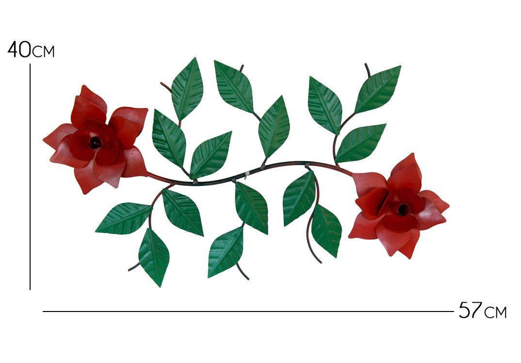 Painel Lindo De Ferro Com Flores Rustico Para Varanda E Muro