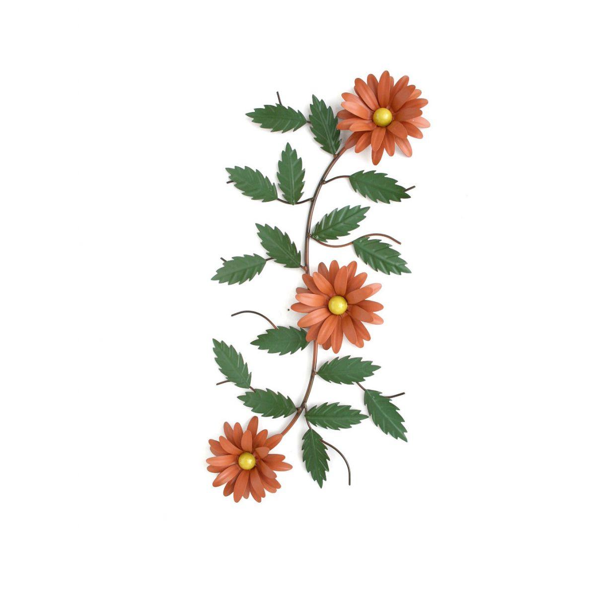 Moldura Painel Rustico Com Flor Enfeite De Parede Sala Estar