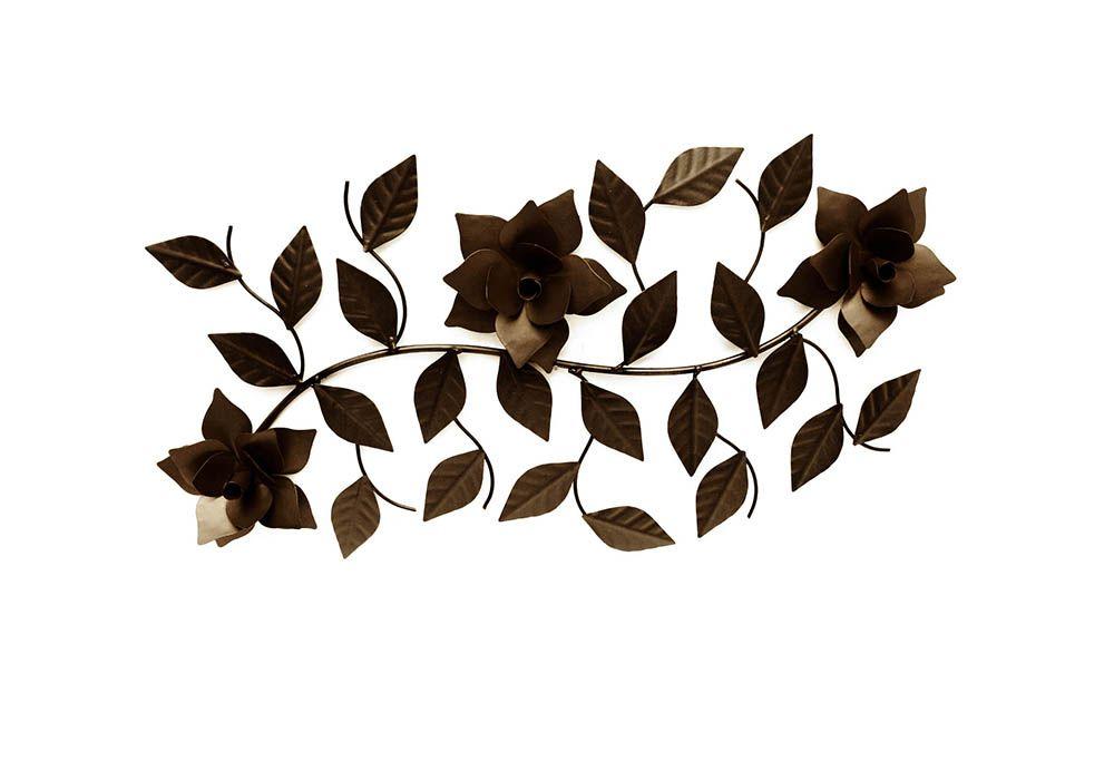Arranjo De Flores Artificial Em Ferro Para Sala Decoração