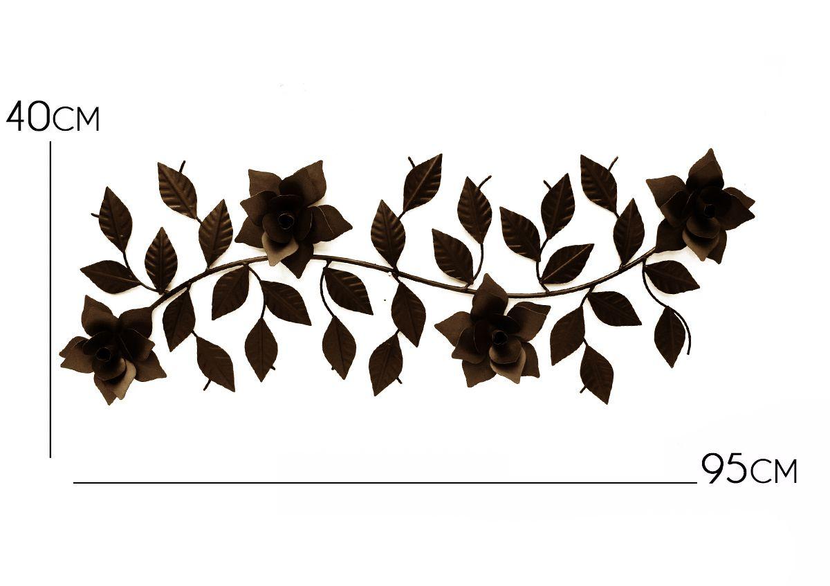 Painel Artesanal Decorativo em Ferro Verniz Rústico para Festas