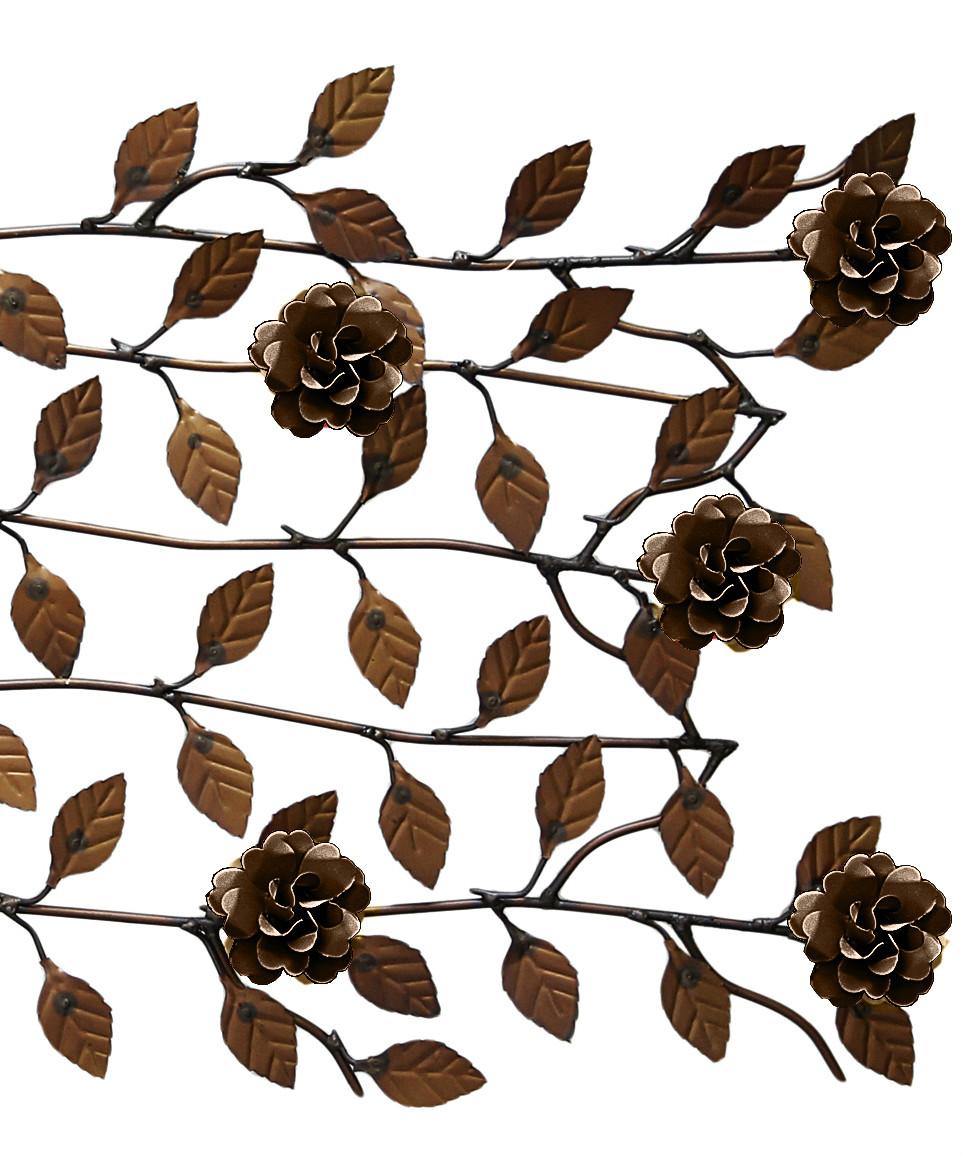 Arvore com Flores Artesanais de Ferro e Lata para Sala de Jantar