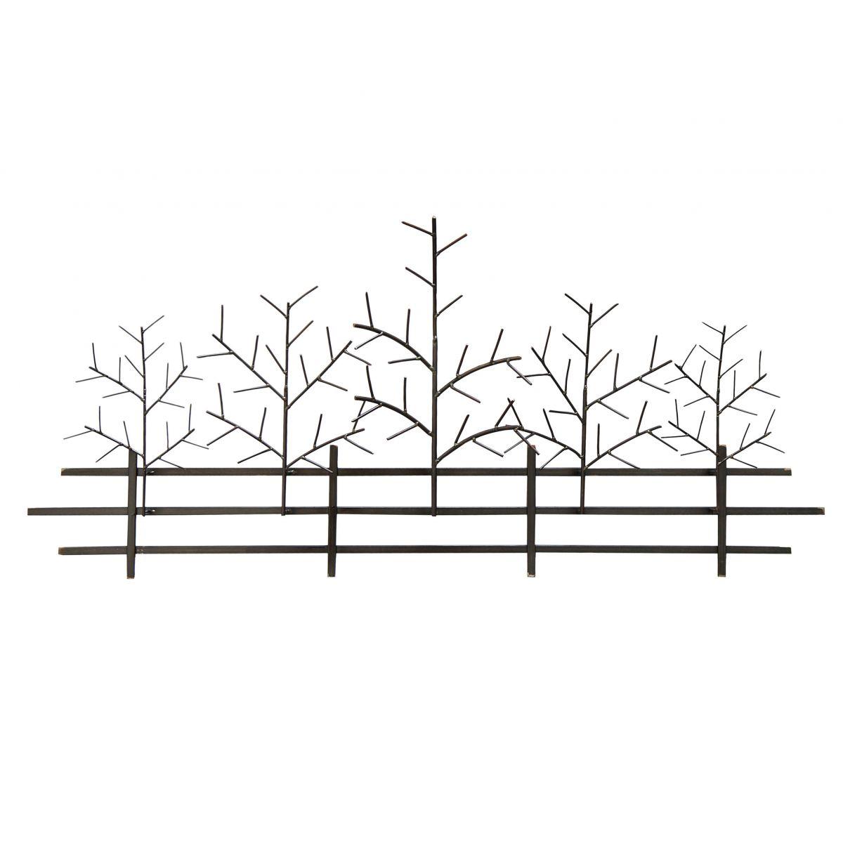 Painel Arranjo de Parede Rustico de Ferro com Galhos Árvore Seca Minas