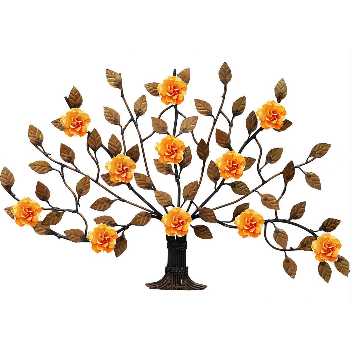 Arvore de Flores de Ferro para Sala de Jantar Artesanal Decorativo