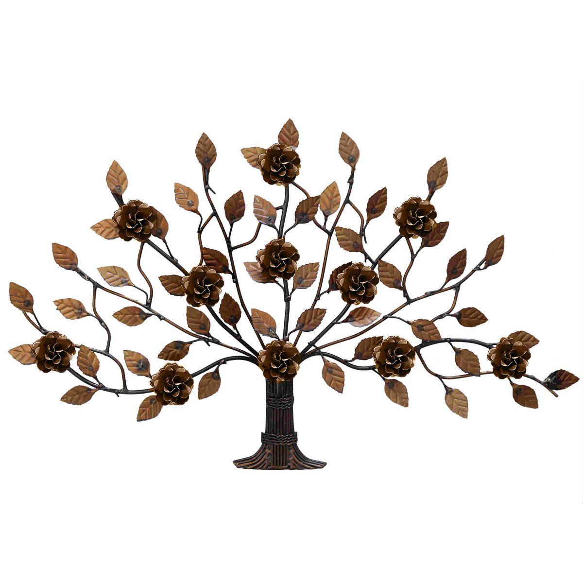 Árvore Arabesco de Flores de Ferro Artesanal Decorativo para Parede da Sala