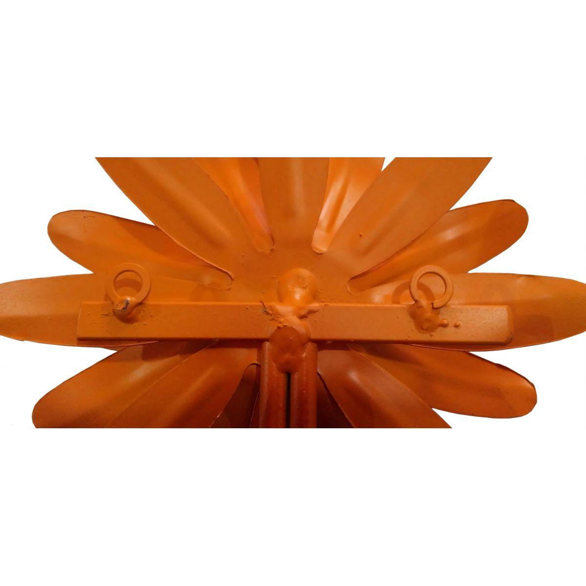 Porta Toalha Artesanal de Banheiro Rustico de Ferro com Flor para Parede