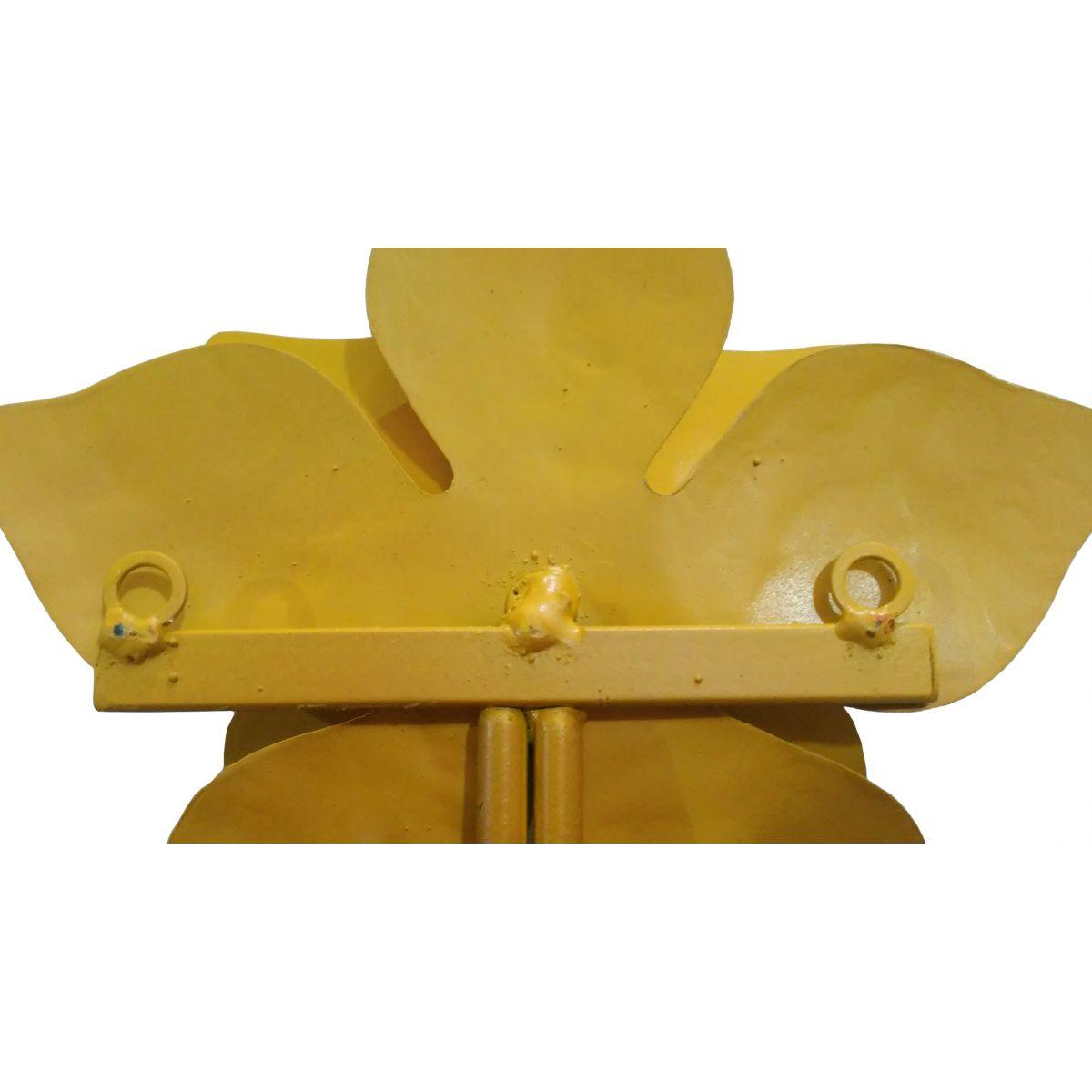 Cabide de Parede para Bolsa de Ferro Artesanal com rosas de Ferro Rustico