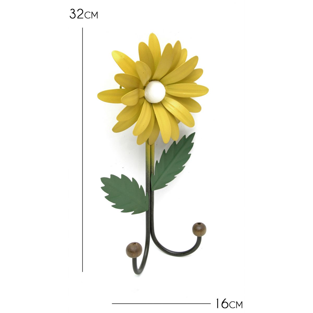 Cabide de Ferro para Bolsas Ganchos de Flor Rústico Artesanal