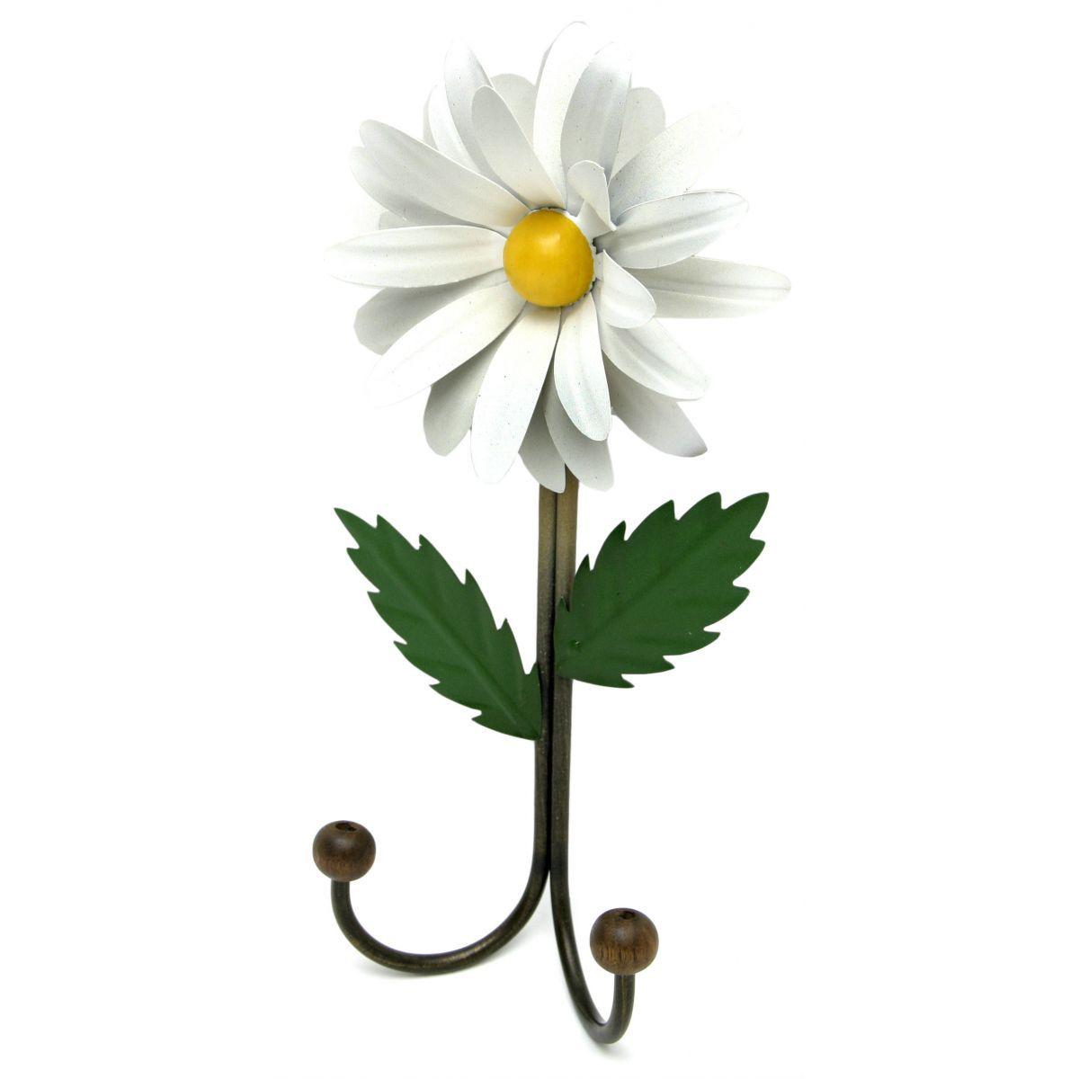 Cabide para Bolsas de Quarto em Ferro Artesanal com Flor de Lata