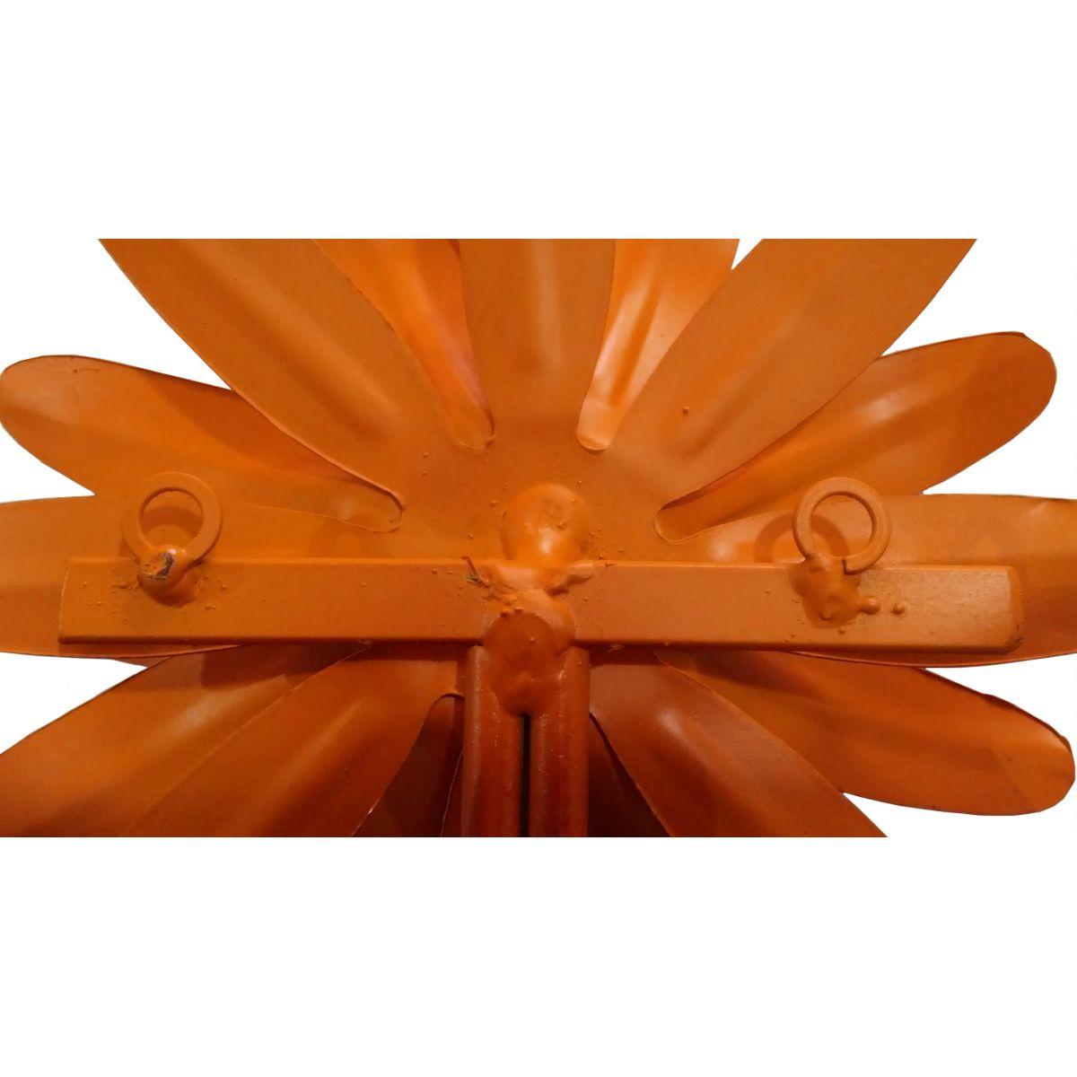 Cabideiro de Ferro para Roupa Artesanal Moderno de Quarto com Flor Colonial