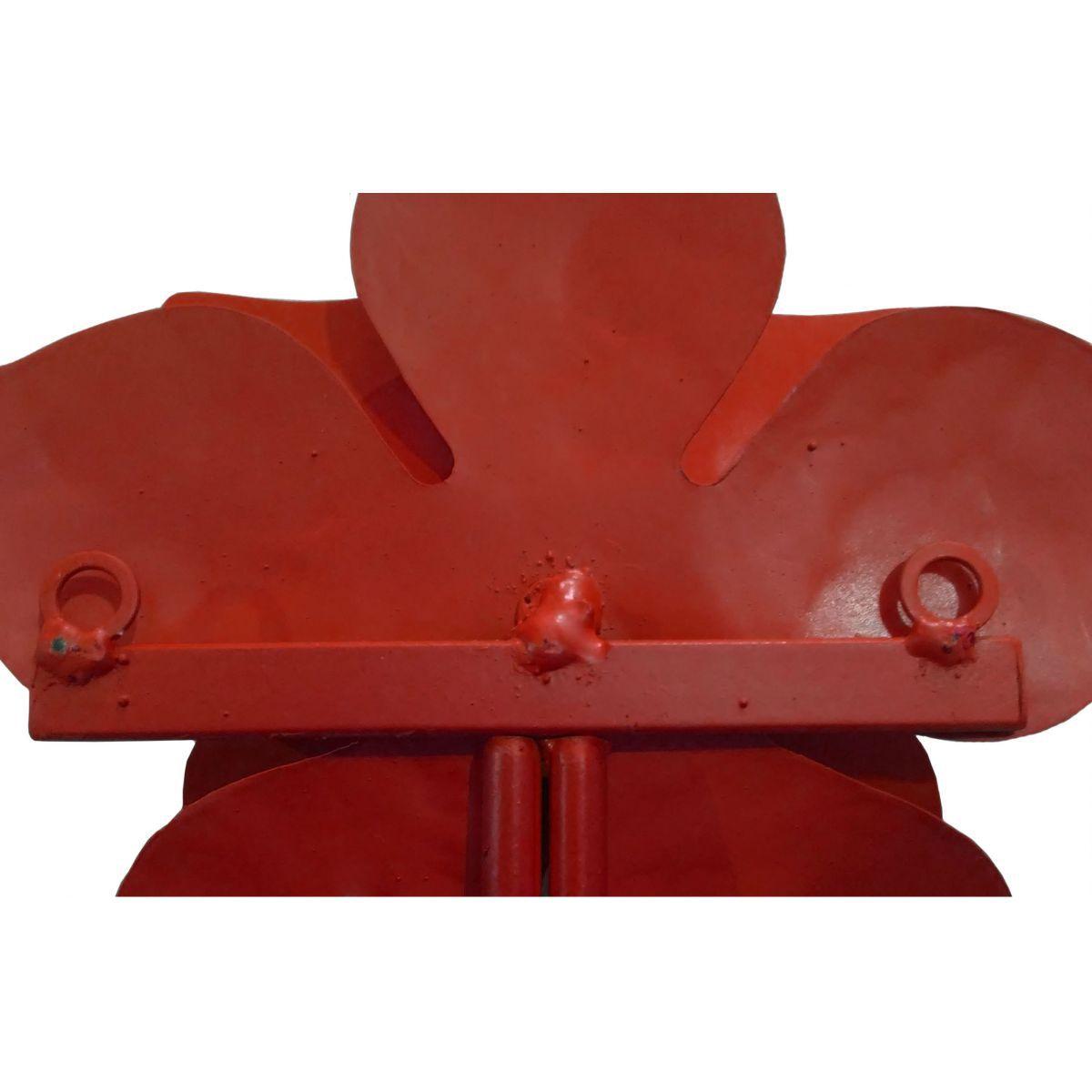 Cabide de Ferro Para Toalhas e Panos Cozinha e Banheiro Artesanal de Ferro com Rosa