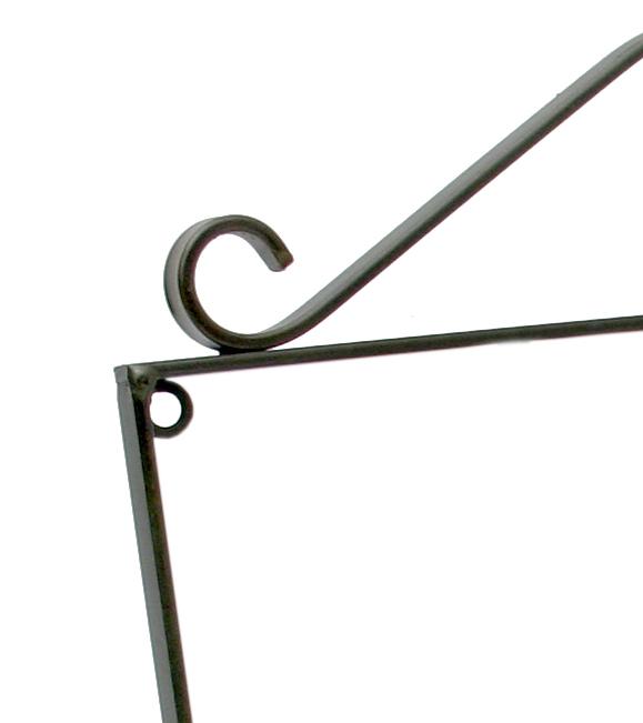 Cabide de Parede em Ferro Rústico em Ferro e Lata com Flores Artesanais