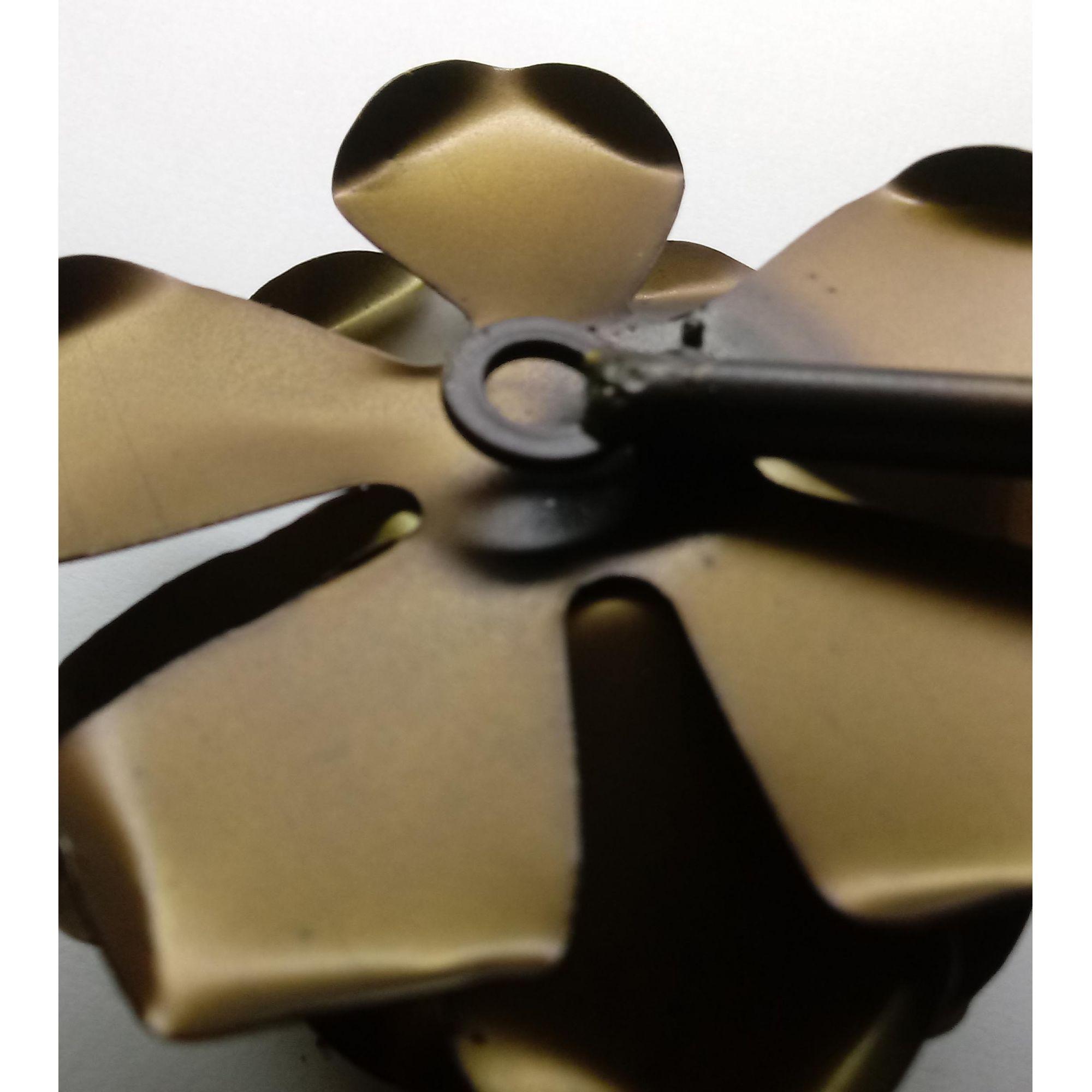 Cabide de Porta Decorativo de Ferro com Flor Artesanal Moderna Quarto de Casal