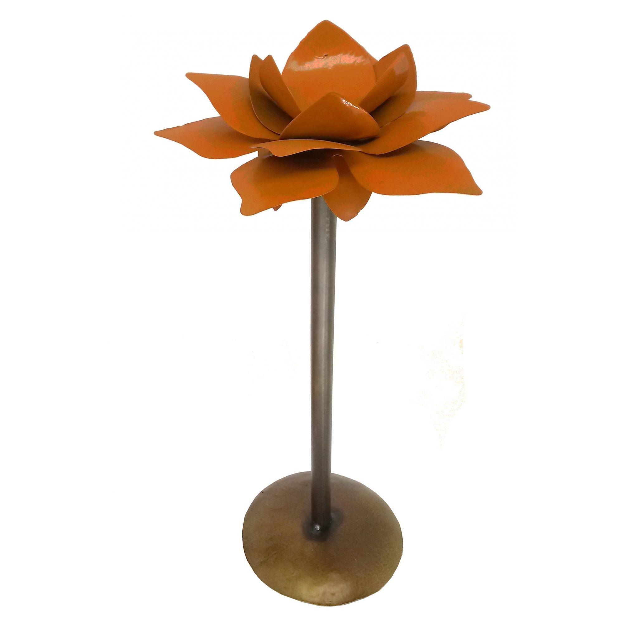 Castiçal De Flor Aniversário e Presente Artesanato Em Ferro e Lata
