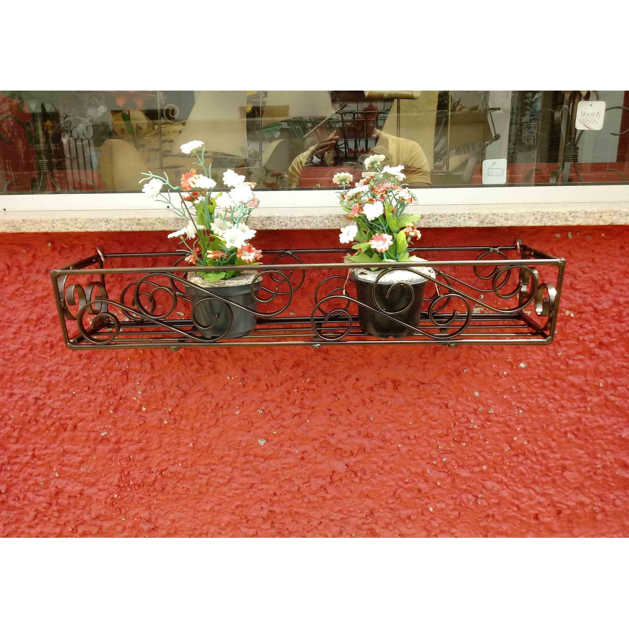 Floreira de Metal para Vasinhos de Violeta e Plantas Pequeno Simples 40 CM