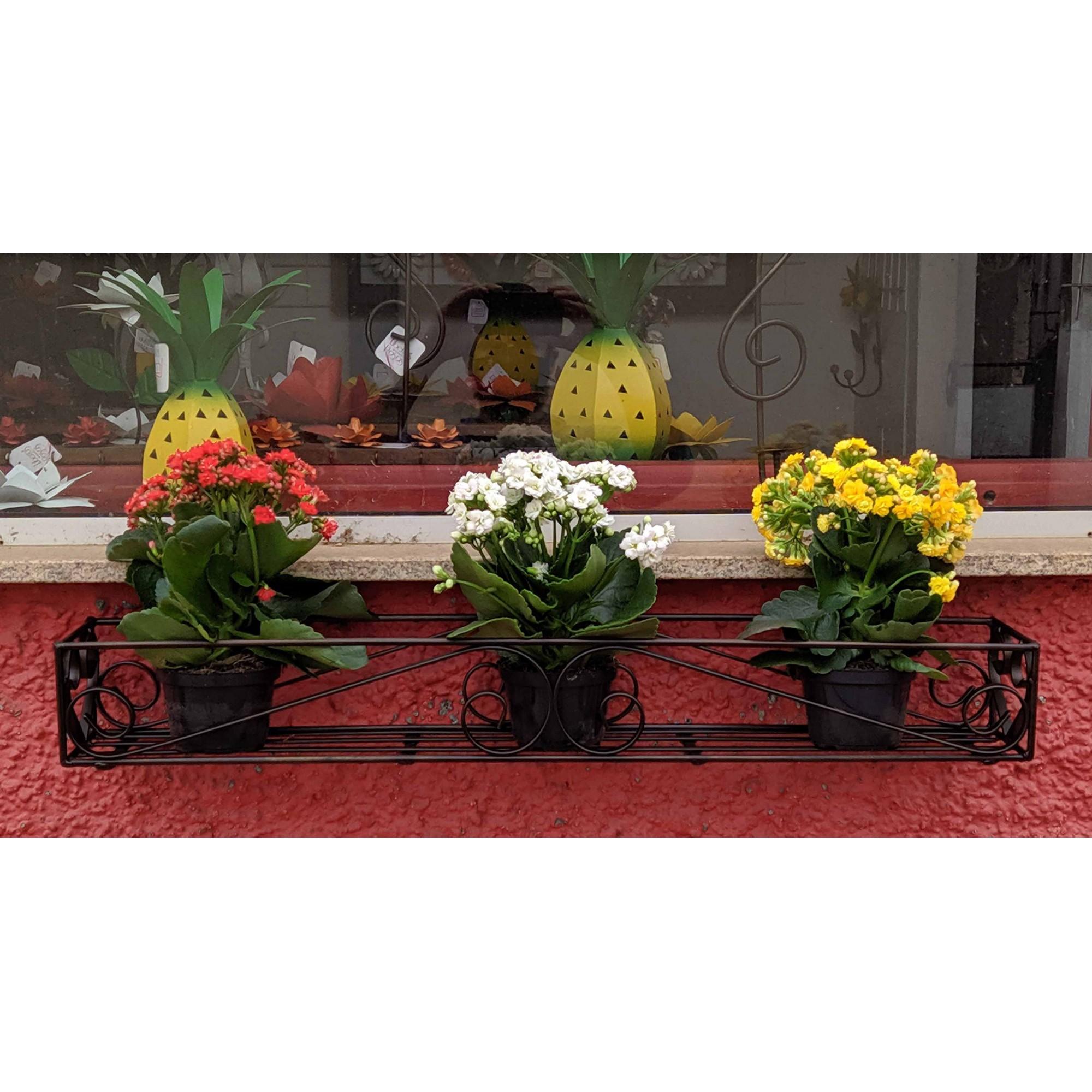 Jardineira Moderna em Ferro para Varanda e Quintal de Apartamento