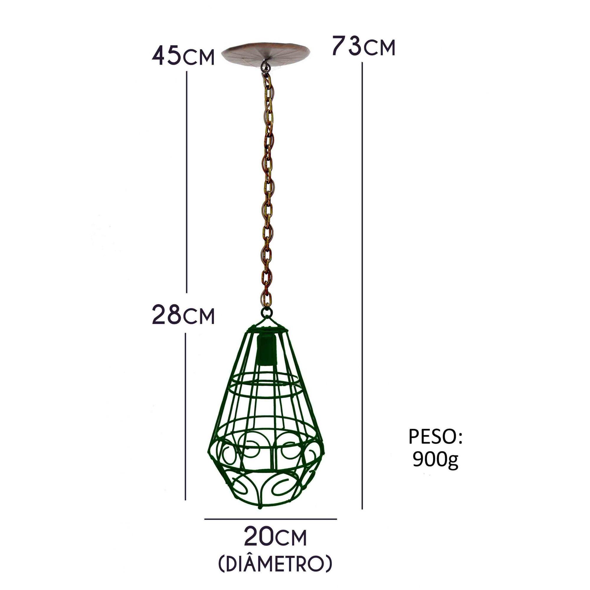 Linda Luminaria Aramada Decorativa Para Area De Lazer em Ferro