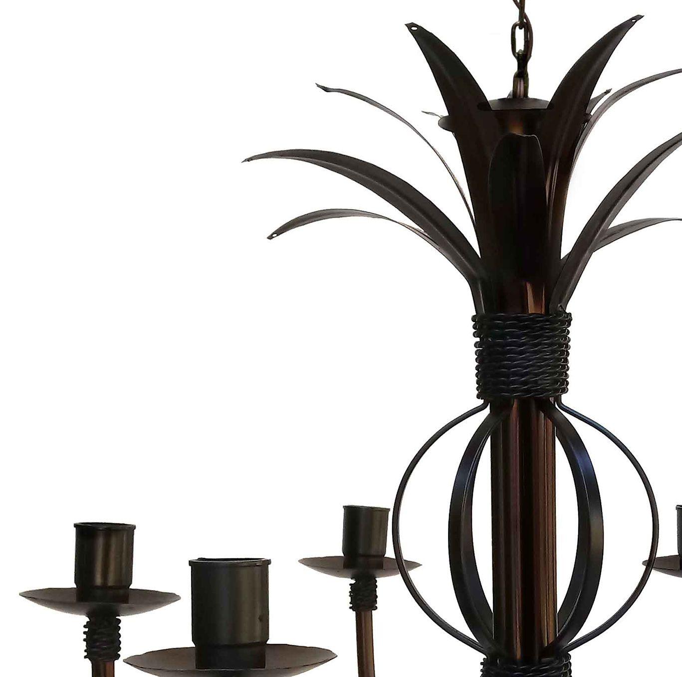 Linda Luminária Com Folhas Artesanais Em Metal para Sala De Estar