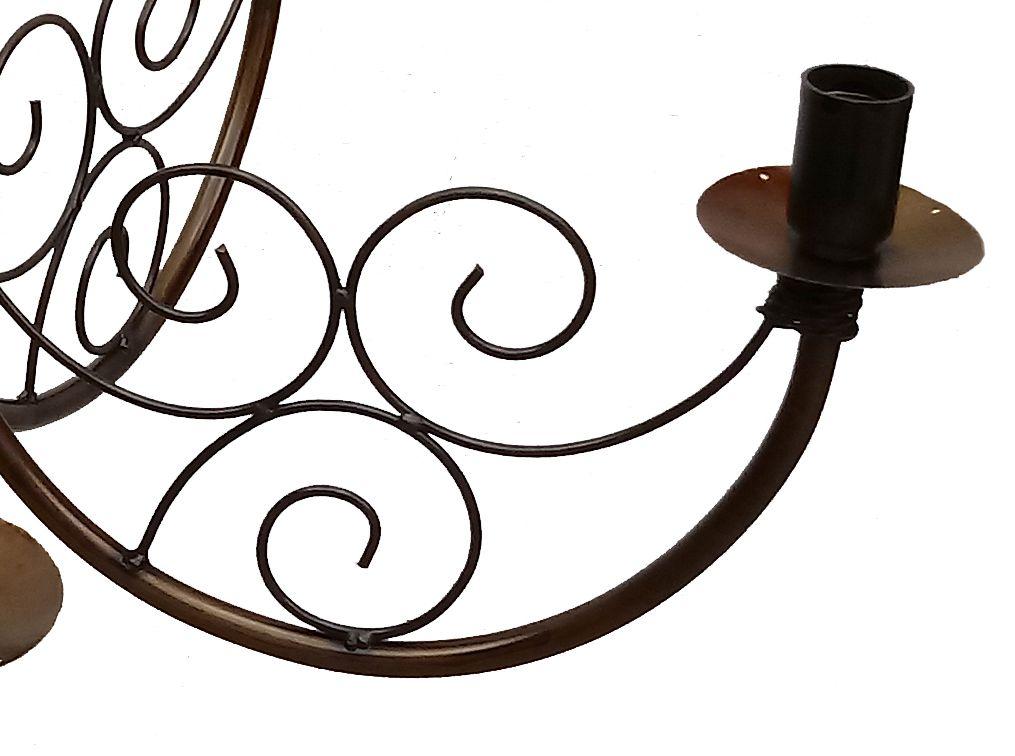 Lindo Lustre De Ferro Decorativo Moderno para Iluminação de Area Interna