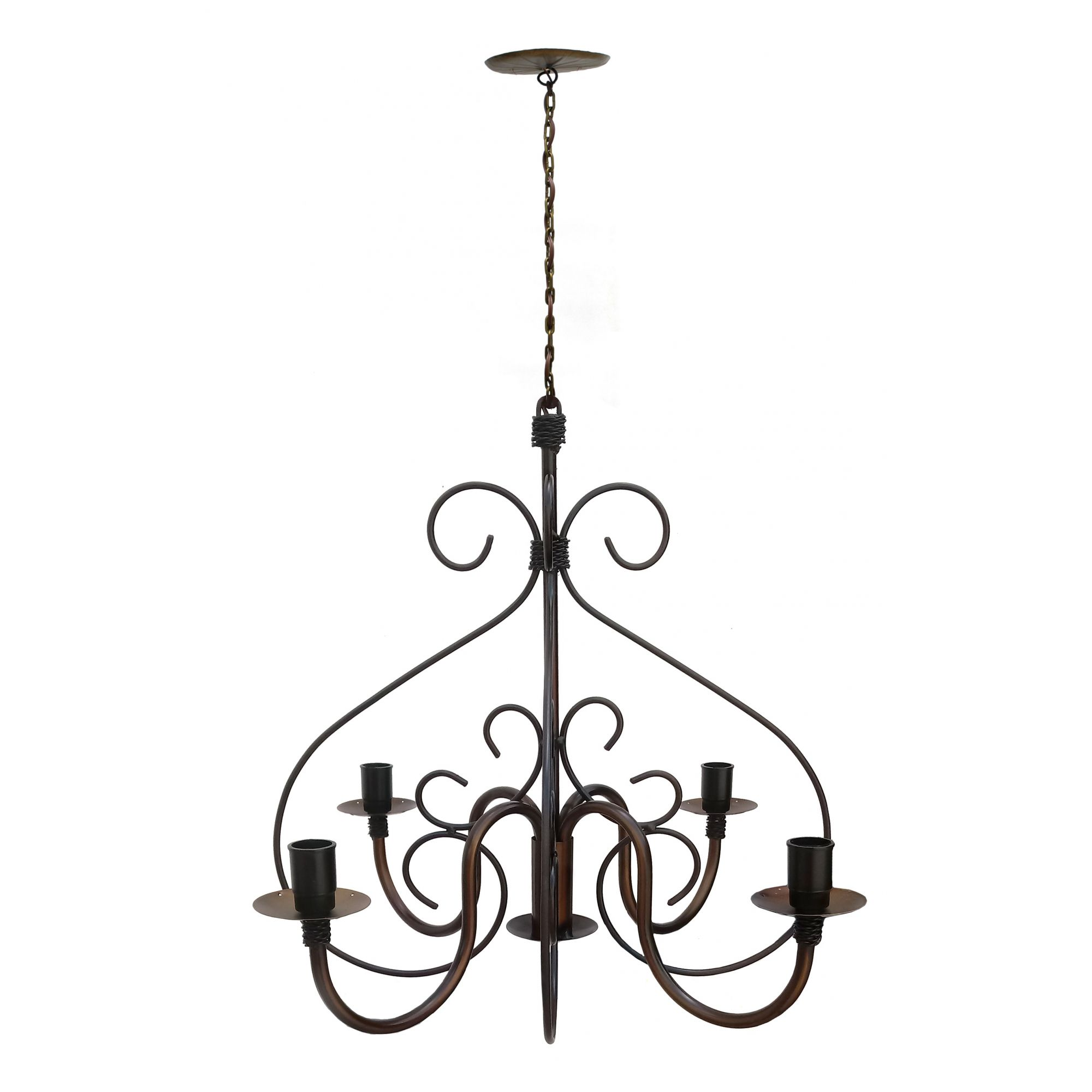 Lindo Pendente De Ferro Decorativo Para Iluminação de Casa Moderna