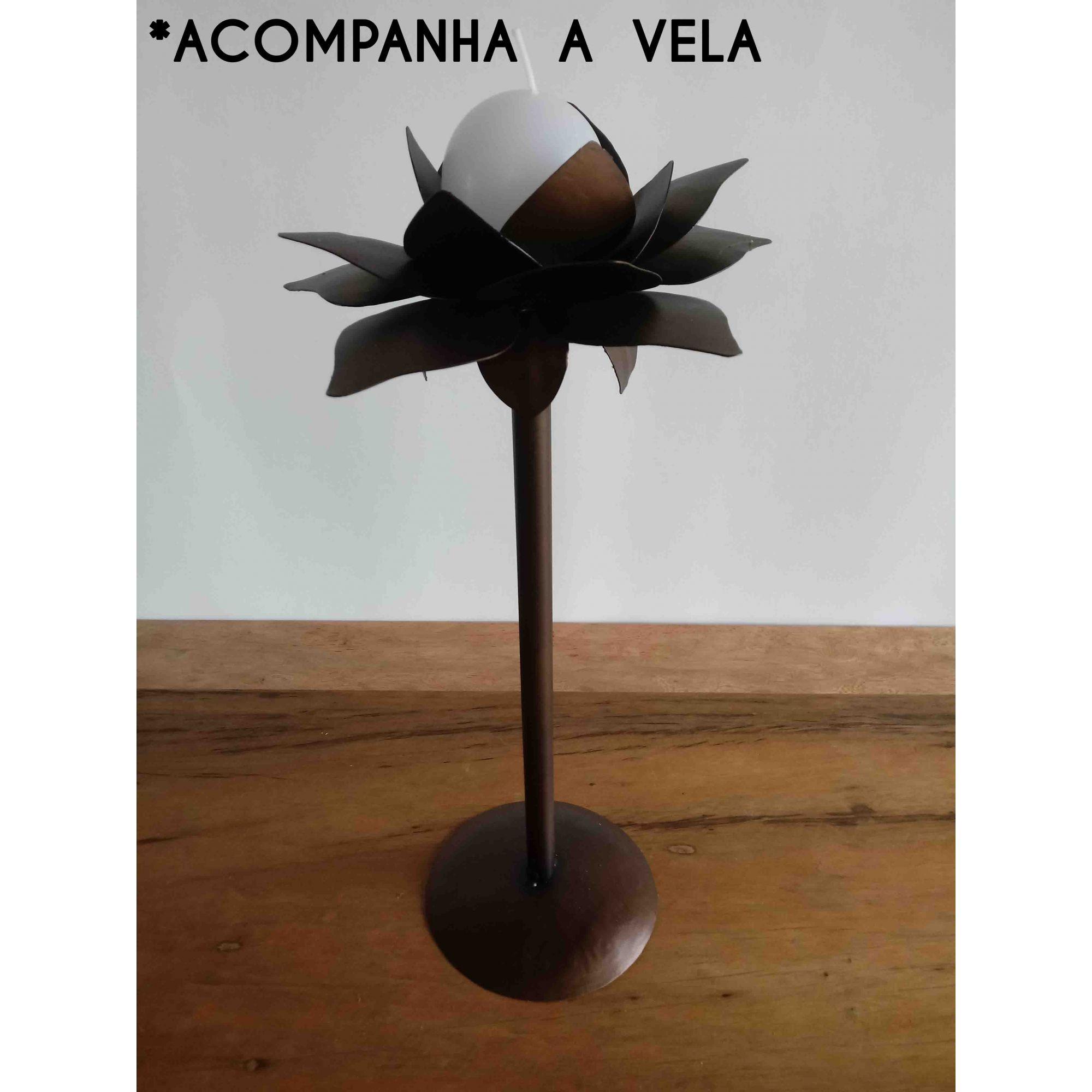 Lindo Presente Artesanal De Ferro Castiçal Para Vela Artesanato Mineiro