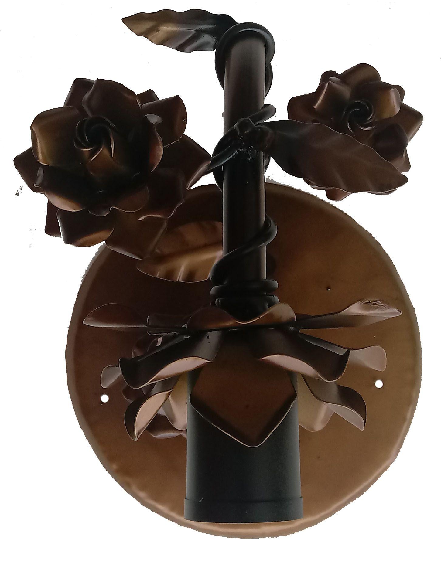 Luminaria Arandela de Parede com Flores Rustica para Quarto de Casal