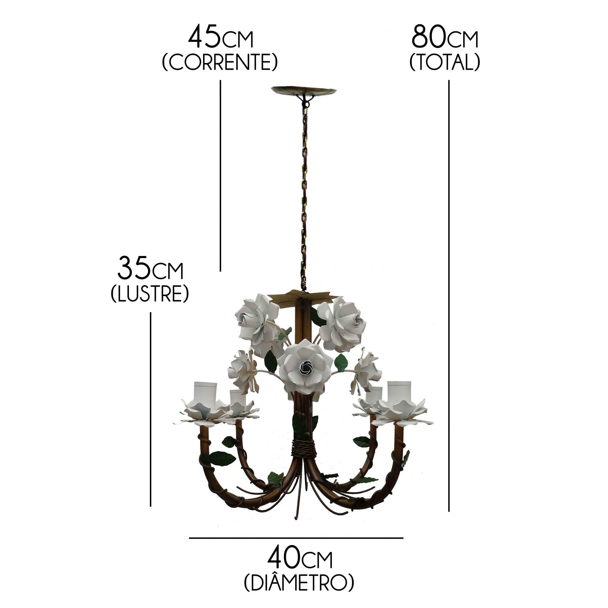 Luminária Artesanal de Teto de Metal Envelhecido para Salinha de Espera
