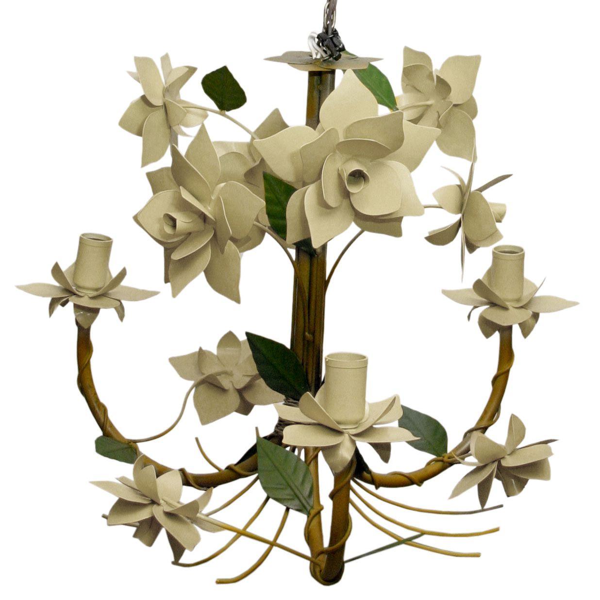 Luminaria de Flores para Iluminação Residencial Decoração Ambiente Provençal