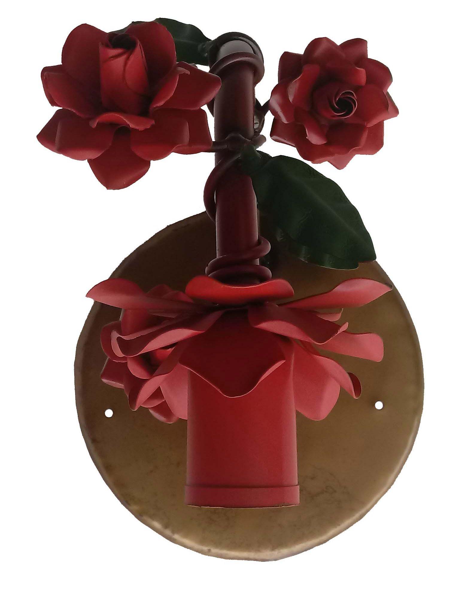Luminária de Parede com Flores Rustica Artesanal para Quarto e Sala