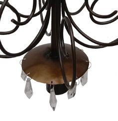 Luminaria Decorativa Artesanal com Cristal Rustica Ouro Antigo Copa e Cozinha