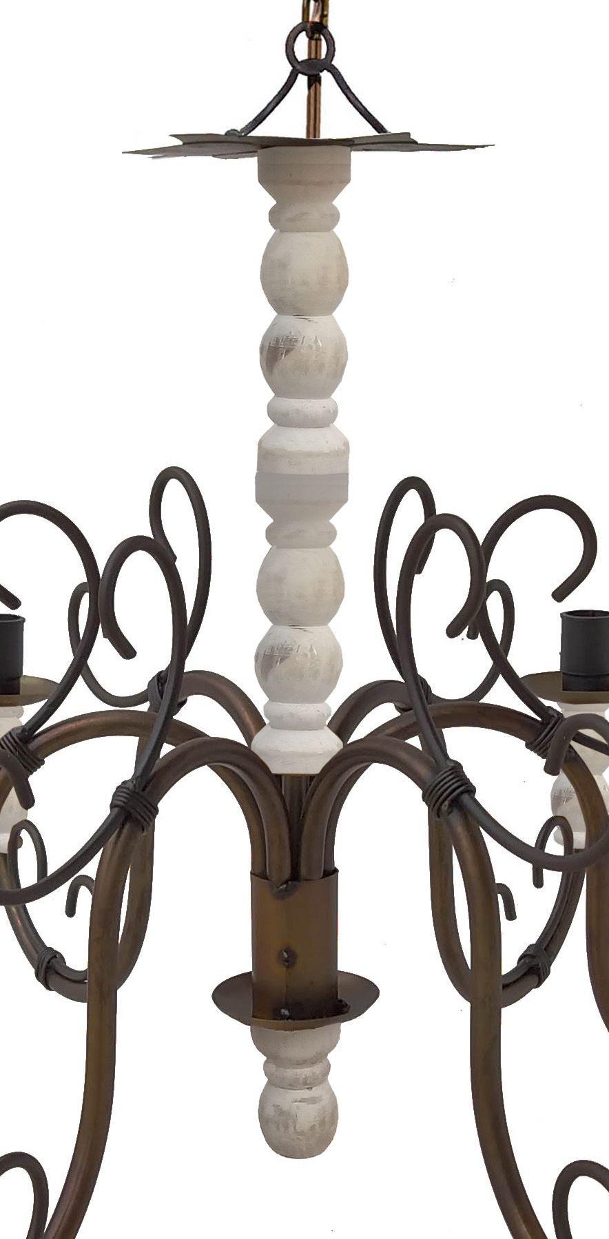 Luminária Decorativa Rustica para Sala de Jantar Grande com Madeira