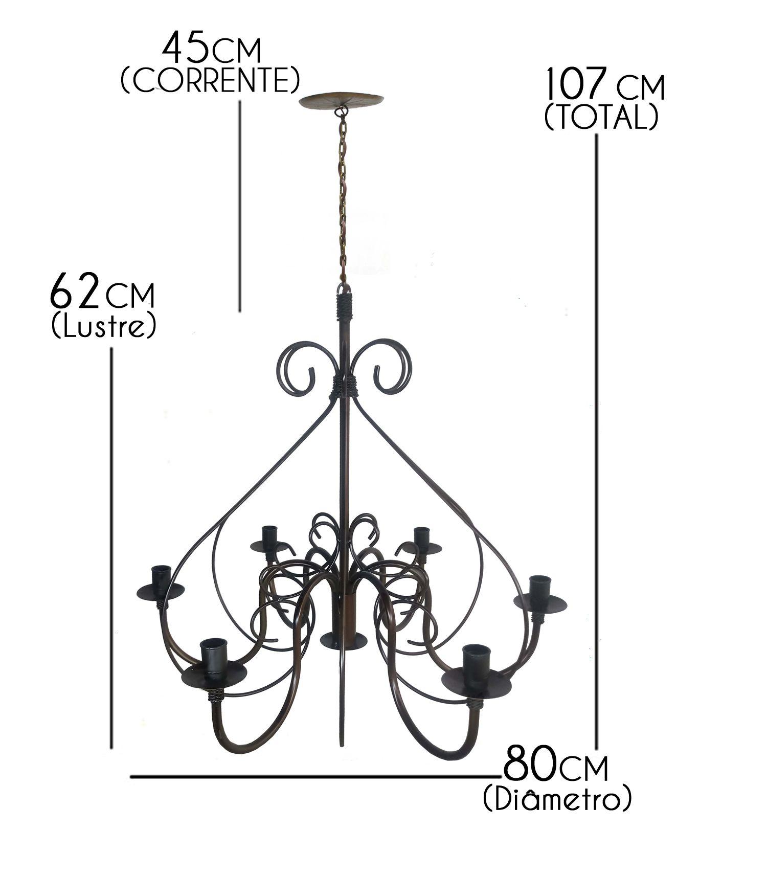 Luminaria Grande Moderna De Ferro Artesanal para Sala De Jantar