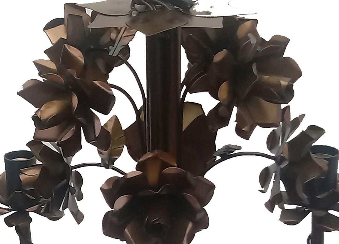 Luminaria Linda de Decoração de Ambiente Interno com Flores de Ferro