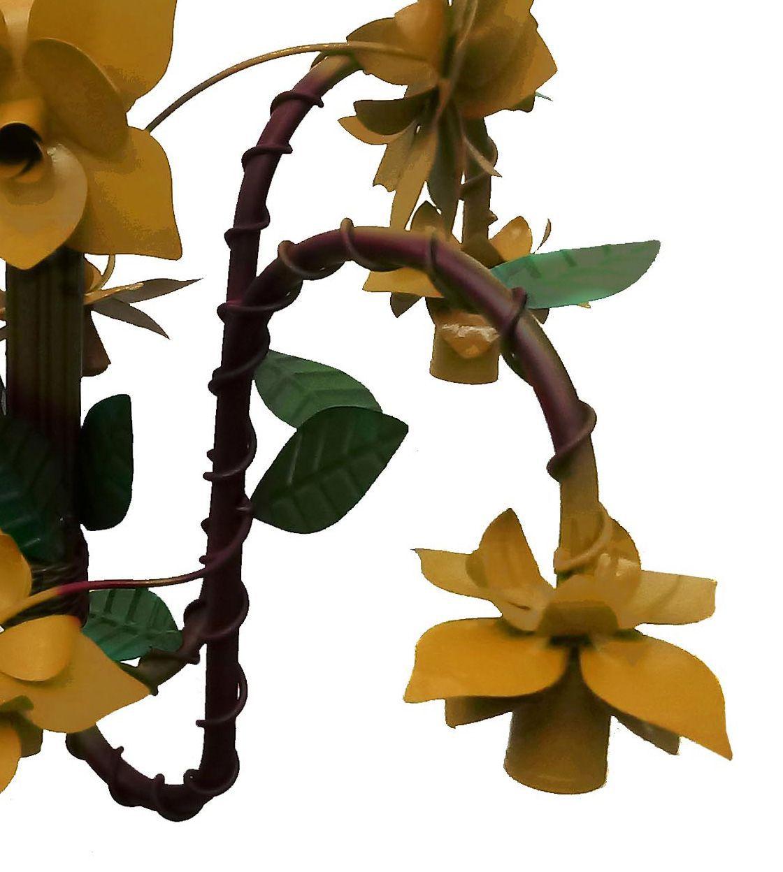 Luminaria Moderna de Flores Artesanais em Ferro para Iluminação Bocal pra Baixo