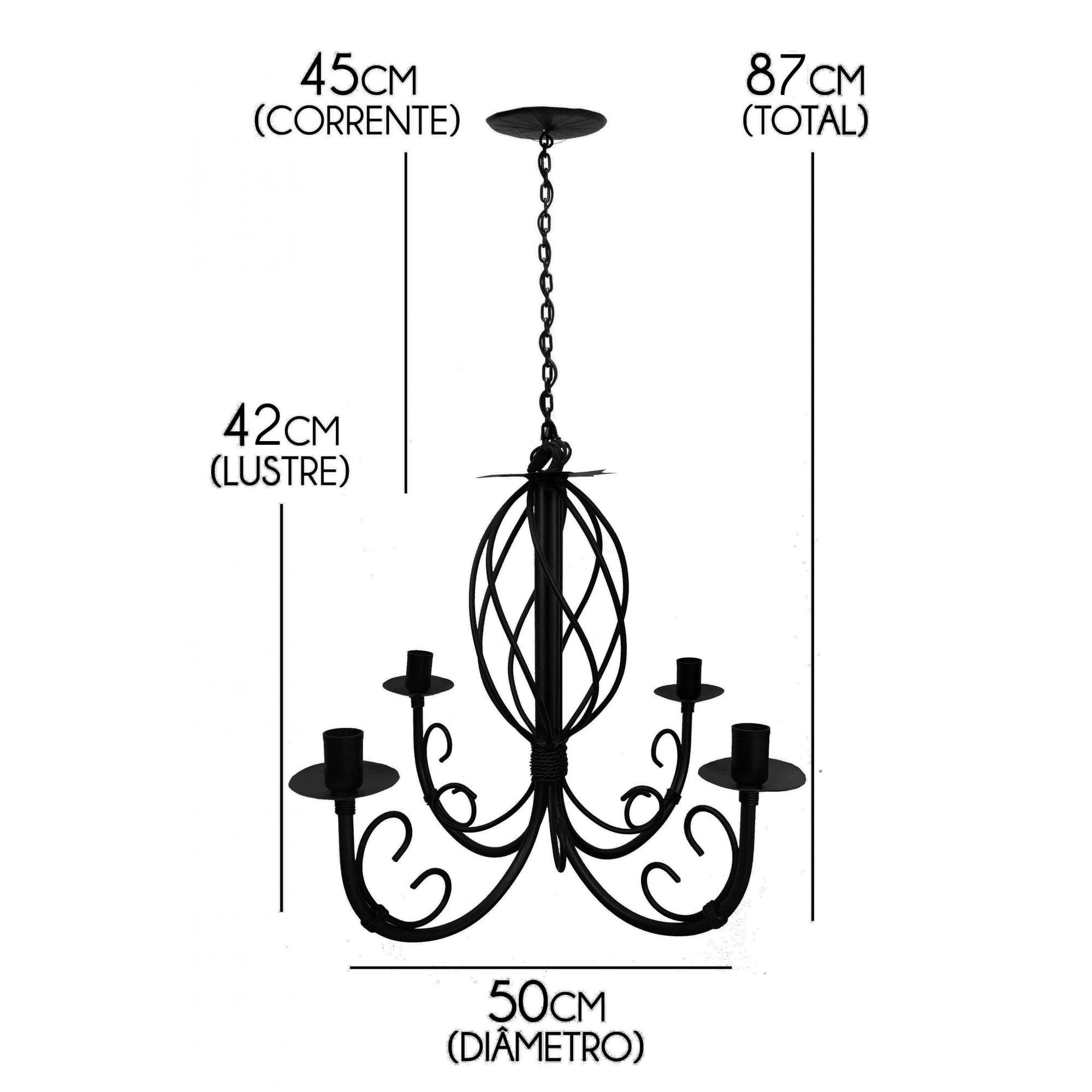 Luminaria Pendente de Ferro Artesanal Decorativo para Quarto Moderno
