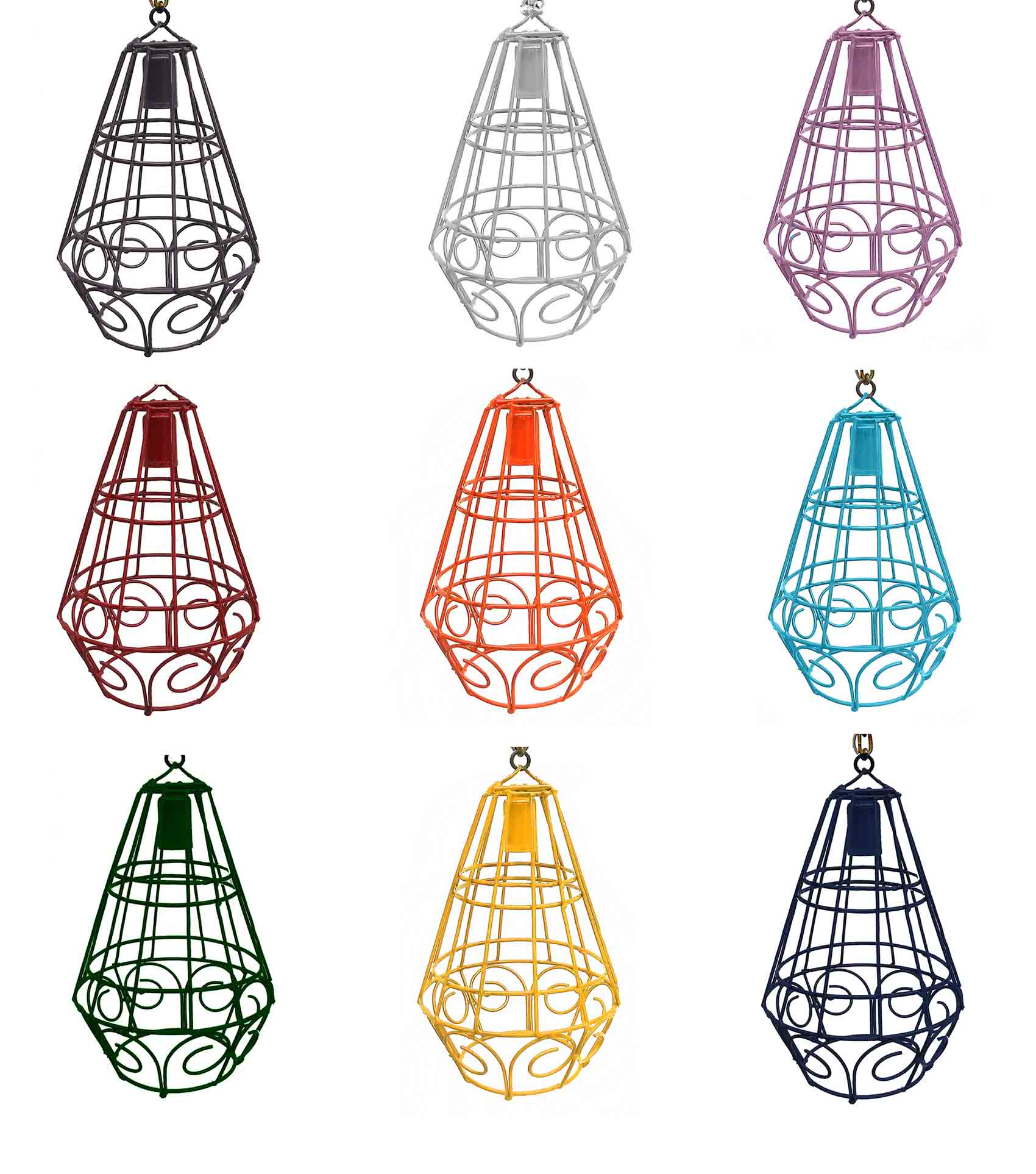 Luminária Pendente de Ferro Modelo Moderna para Área Gourmet Restaurante e Bar