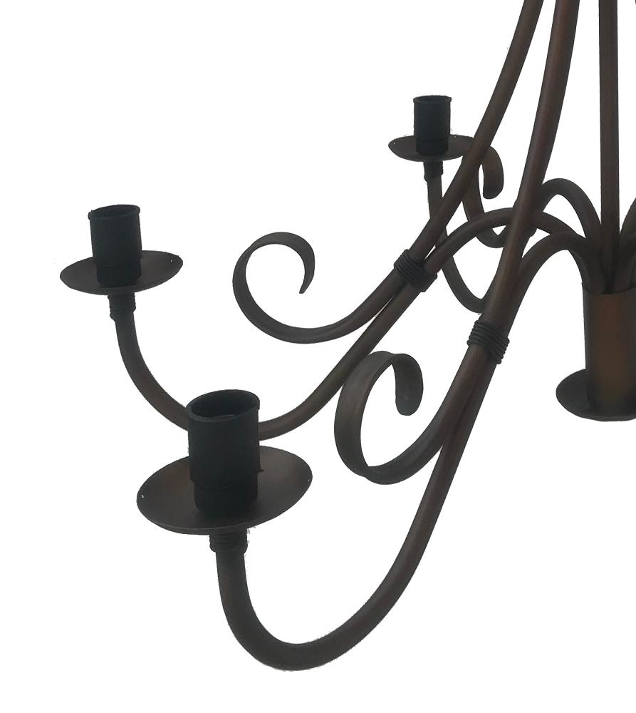 Lustre 6 Lâmpadas De Ferro Iluminação Residencial Direto Da Fábrica