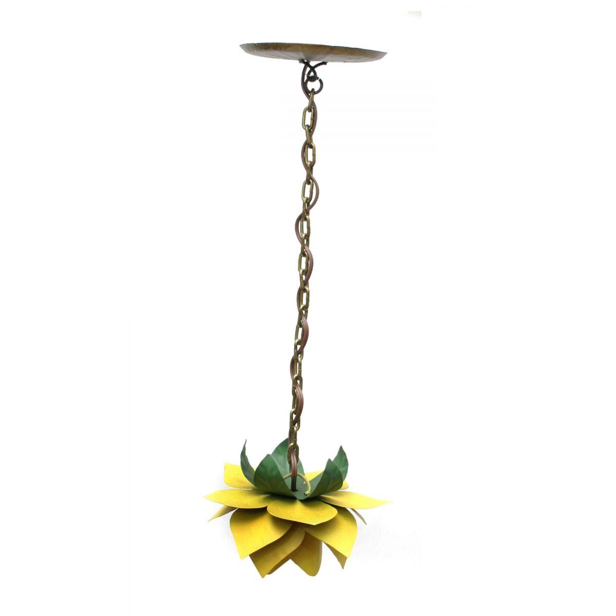 Luminaria Para Quarto de Ferro Artesanal Rustica Decorativa Flor