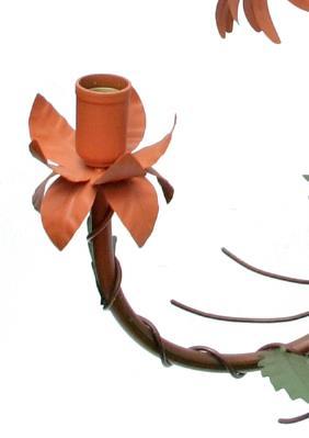 Pendente de Ferro Artesanal para Quarto e Sala com Flores Decorativo