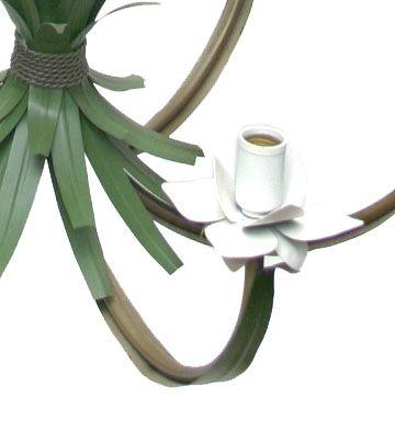 Pendente de Teto Rústico Decorativo Sala Moderna Flores e Folhas
