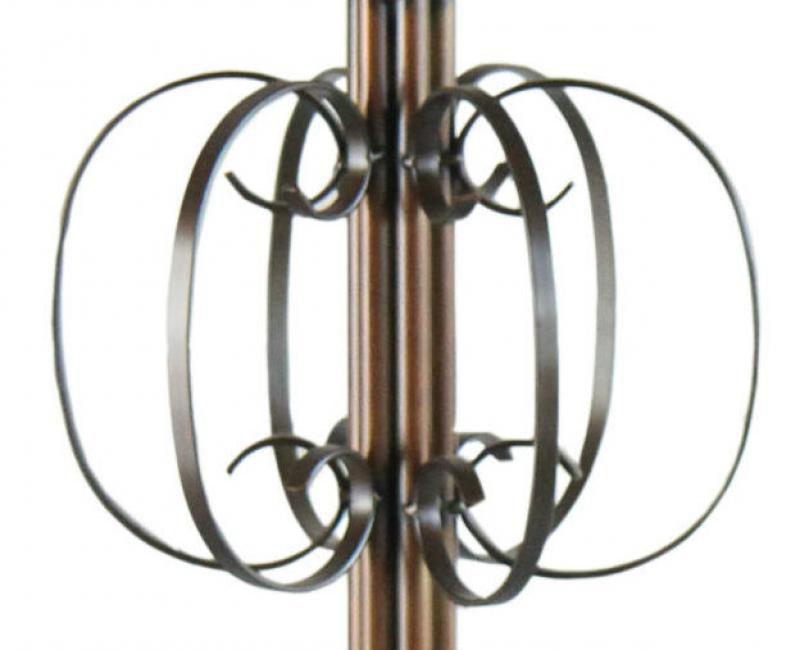 Lustre De Ferro Artesanal Para Sala Moderna cor Verniz 6 Bocais