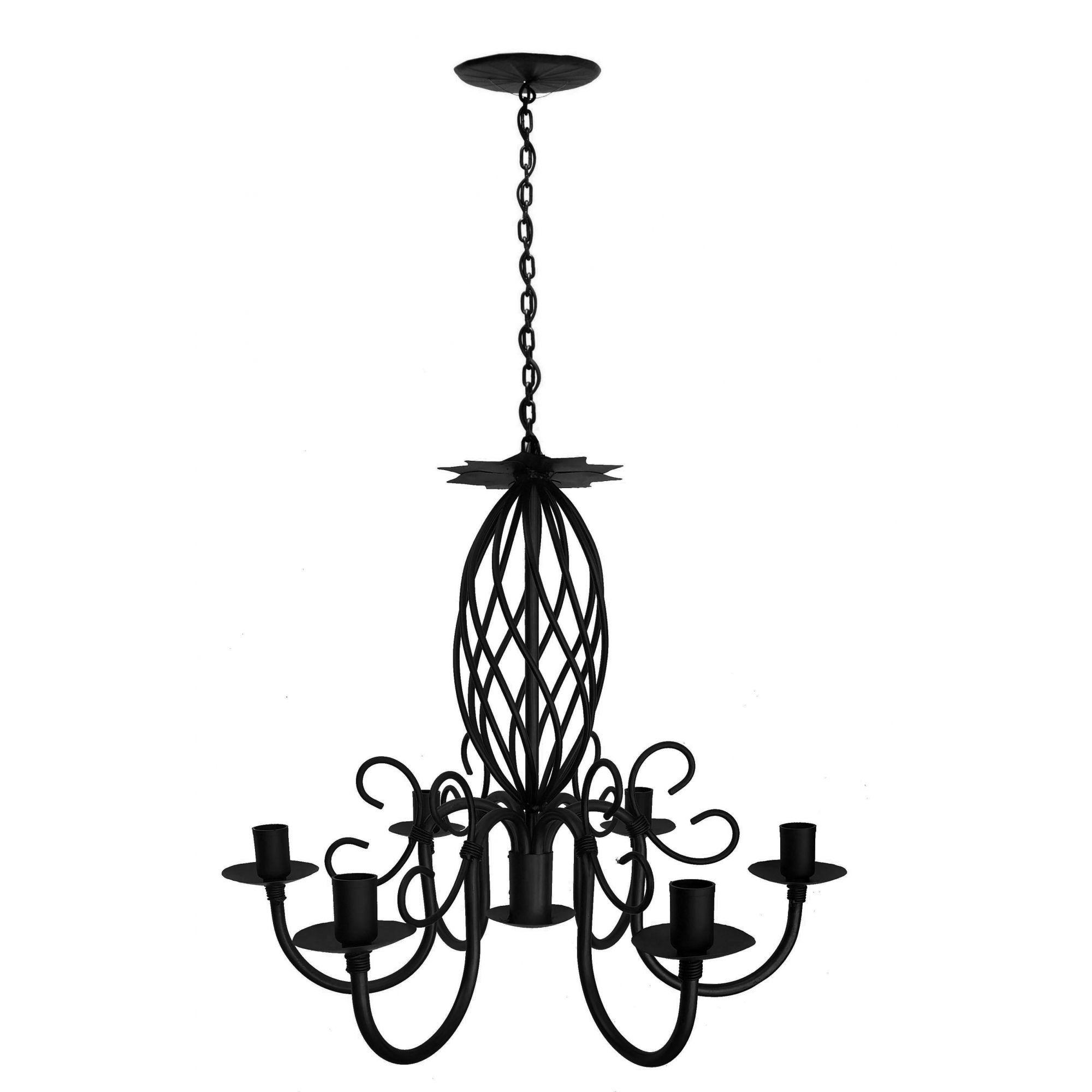 Lustre de Metal com Espiral para Sala de Jantar Iluminação Interna