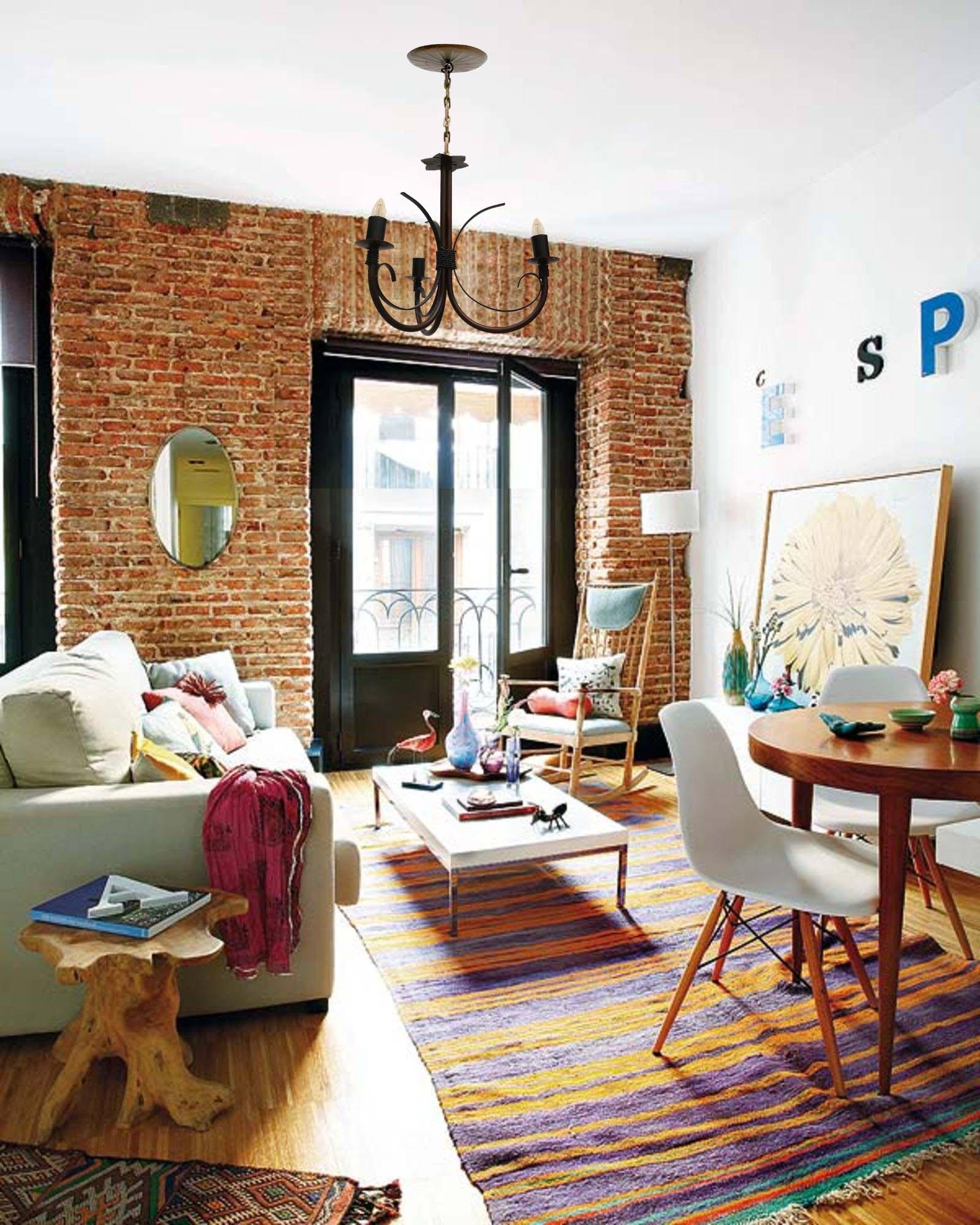 Lustre Artesanal Rustico Para Sala de Jantar Simples De Apartamento