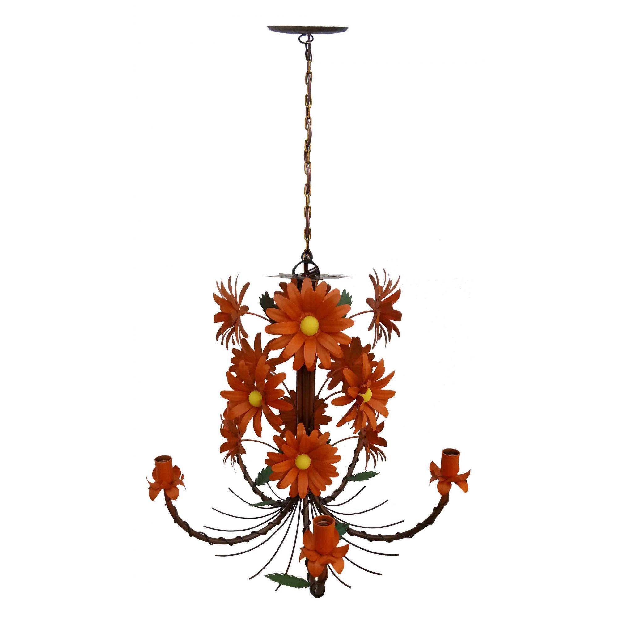 Lustre Direto do Fabricante com Flores Artesanais Varanda e Cozinha de Casa