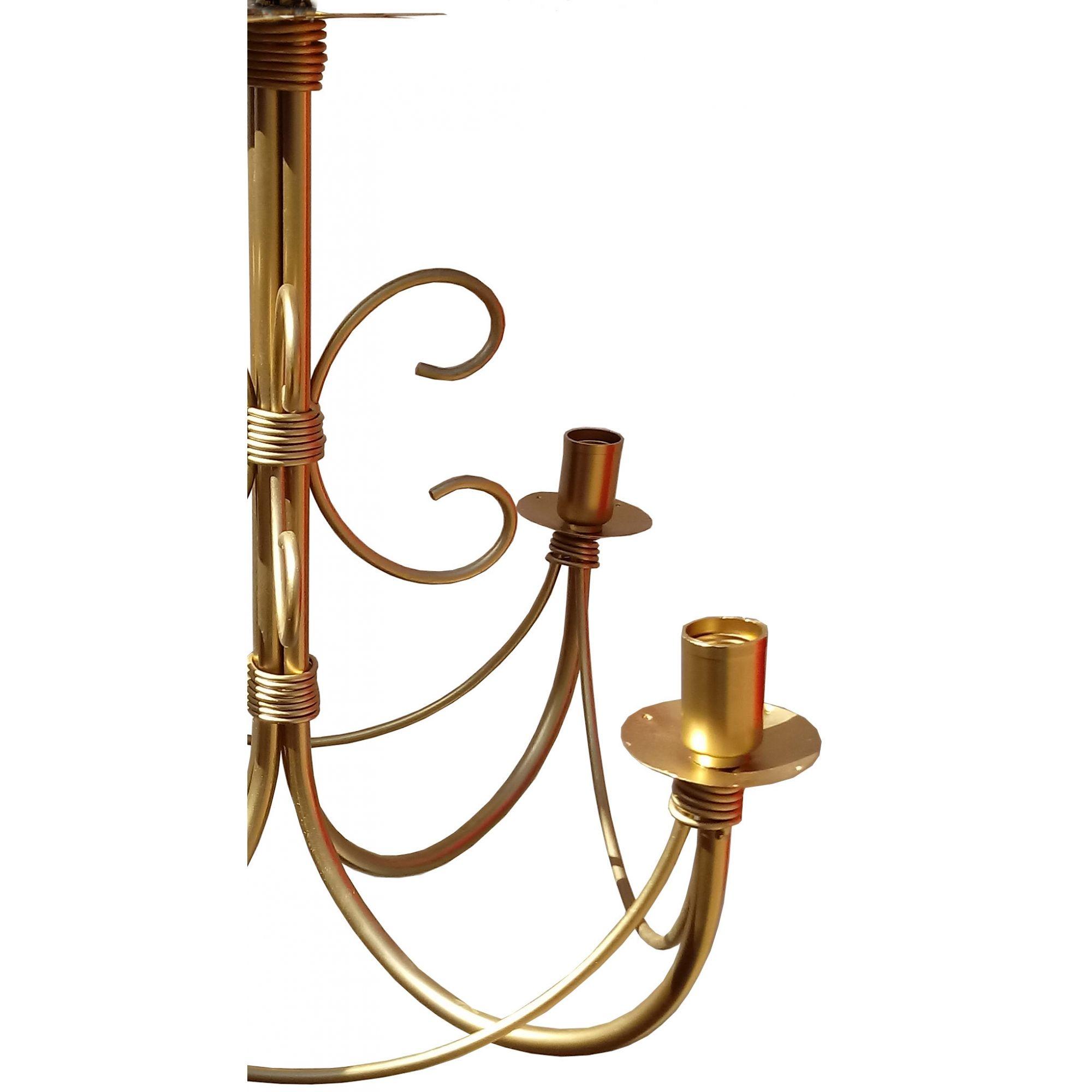 Lustre Dourado para Sala Decoração Moderna Preço de Fabricante