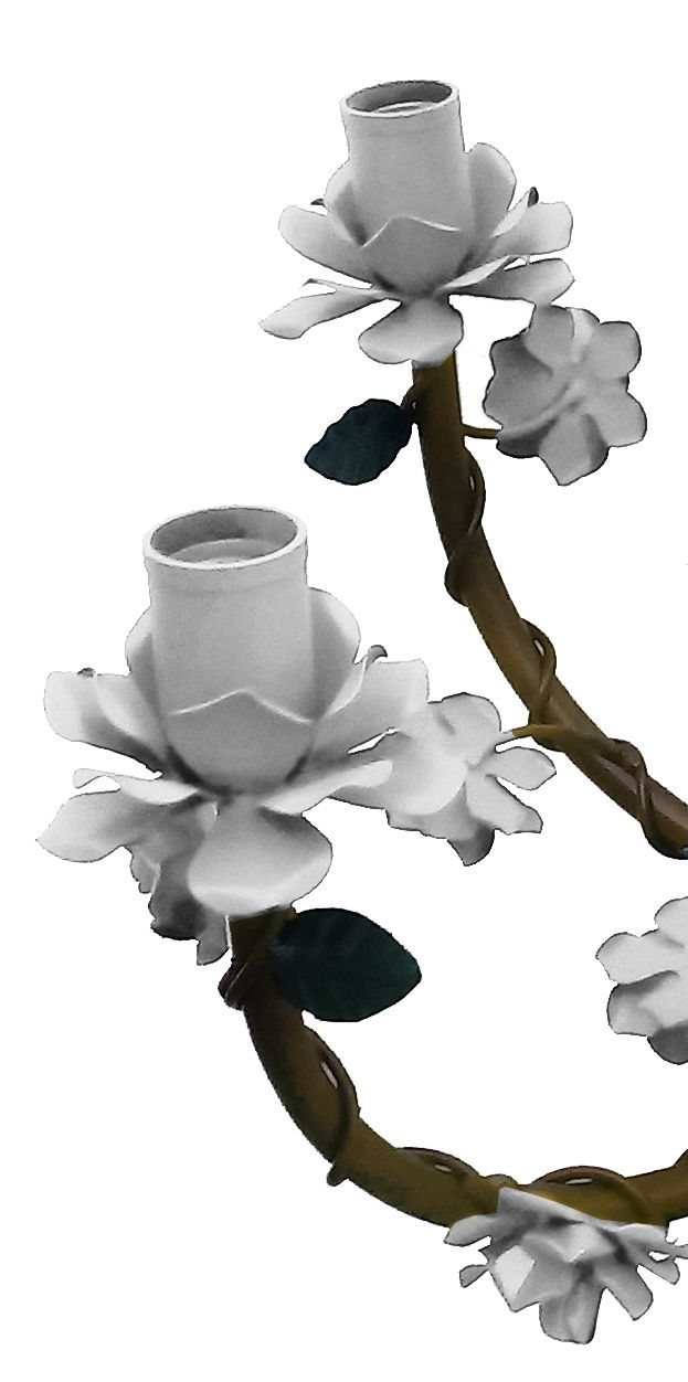 Lustre para Sala de Jantar Flores de Ferro Artesanal Rustico